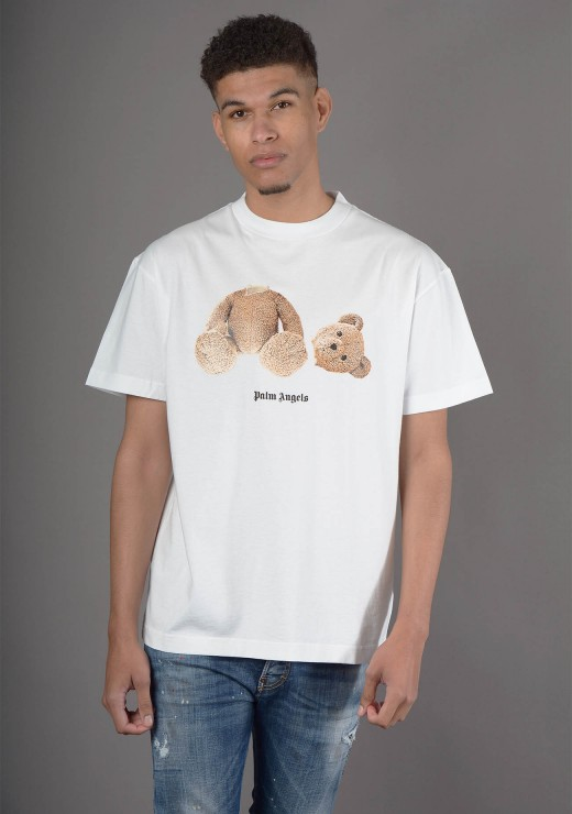 PALM ANGELS - Teddy T-Shirt In White