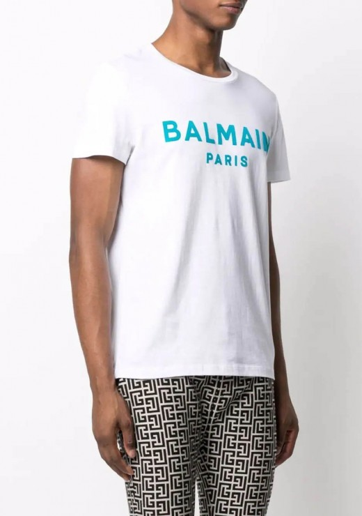 T-SHIRTS - WH1EF000-B124 T-Shirt in White & Blue