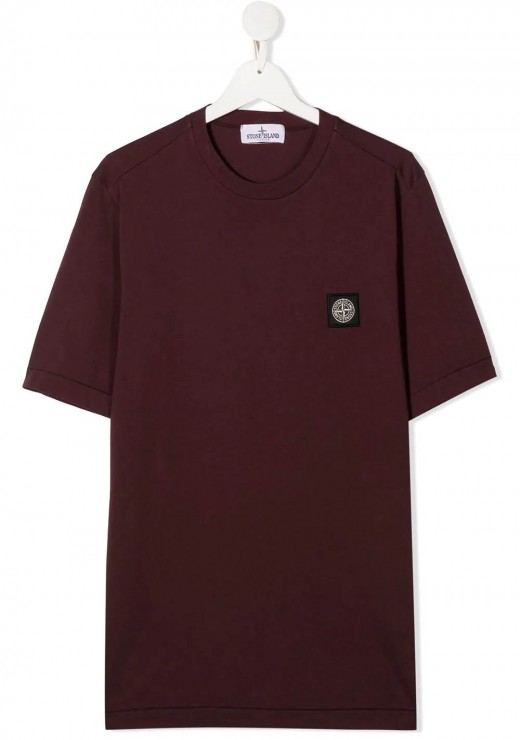 STONE ISLAND JUNIOR - 20147 T-Shirt in Burgundy