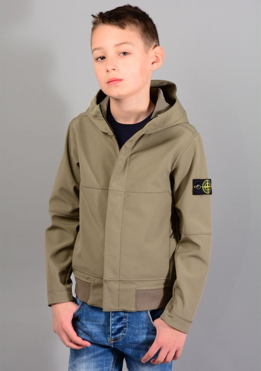 STONE ISLAND JUNIOR - 40234 Jacket In Olive