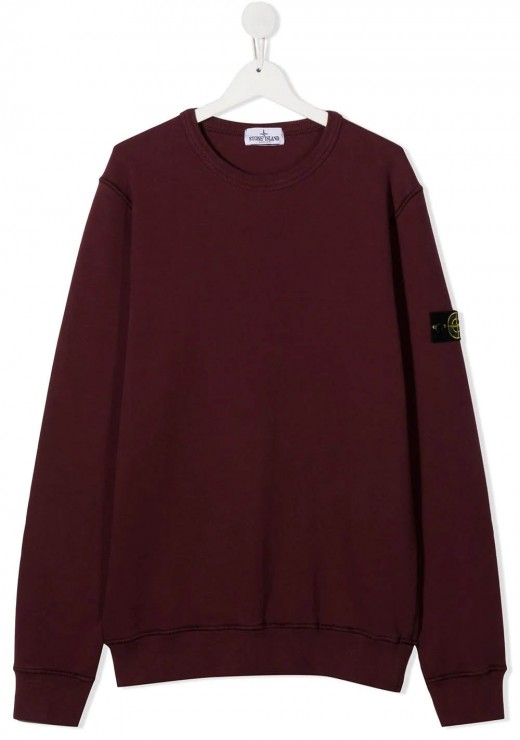 STONE ISLAND JUNIOR - 61340 Sweatshirt in Burgundy