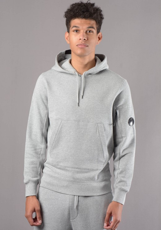 C.P. COMPANY  - MSS040A Lens Hoodie in Grey
