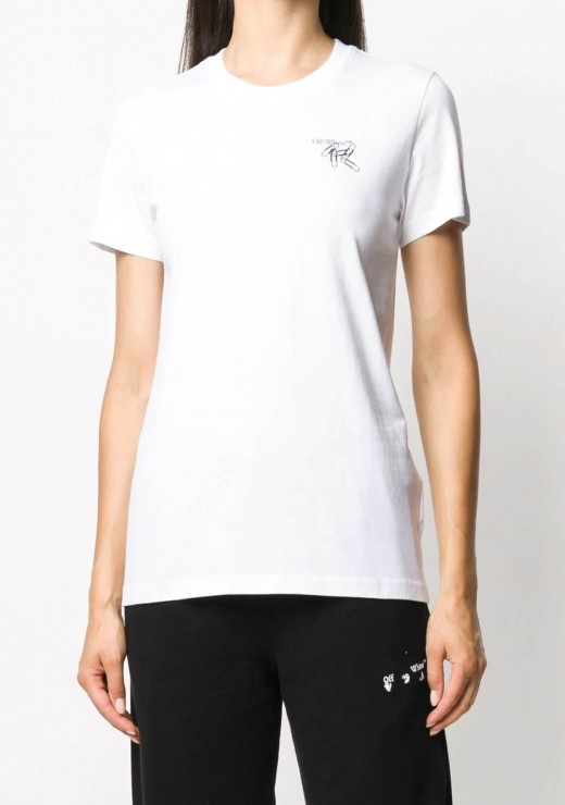 T-SHIRTS - Paperclip Arrow T-Shirt in White