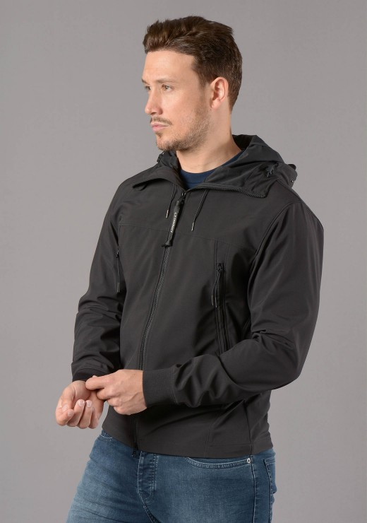C.P. COMPANY  - 013A Shell-R Medium Weight Goggle Jacket in Black
