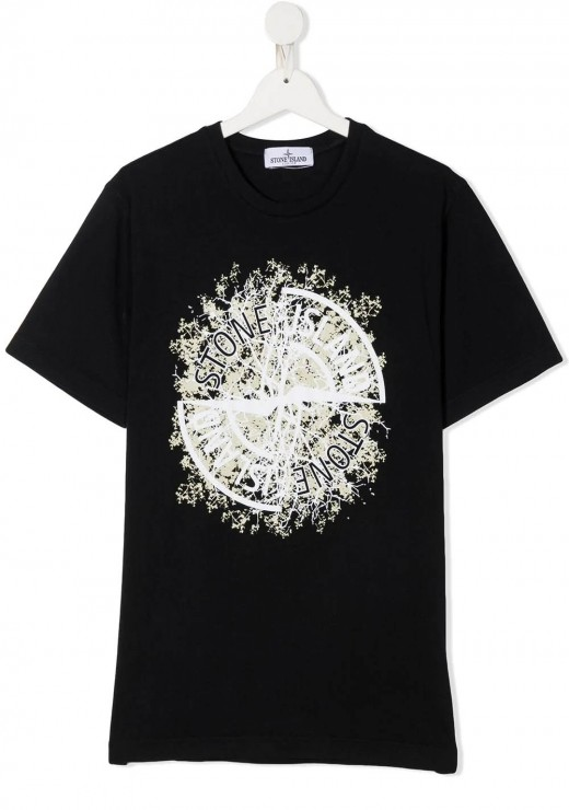 STONE ISLAND JUNIOR - 20157 T-Shirt in Navy