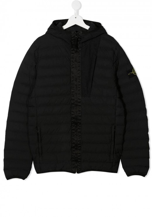 STONE ISLAND JUNIOR - 40132 Jacket in Black