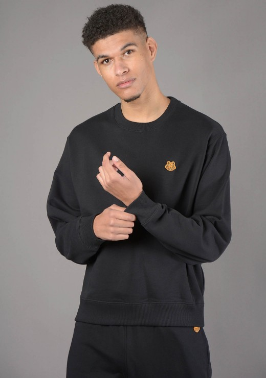 SWEATSHIRTS - 5SW003 Tiger Crest Sweatshirt in Black