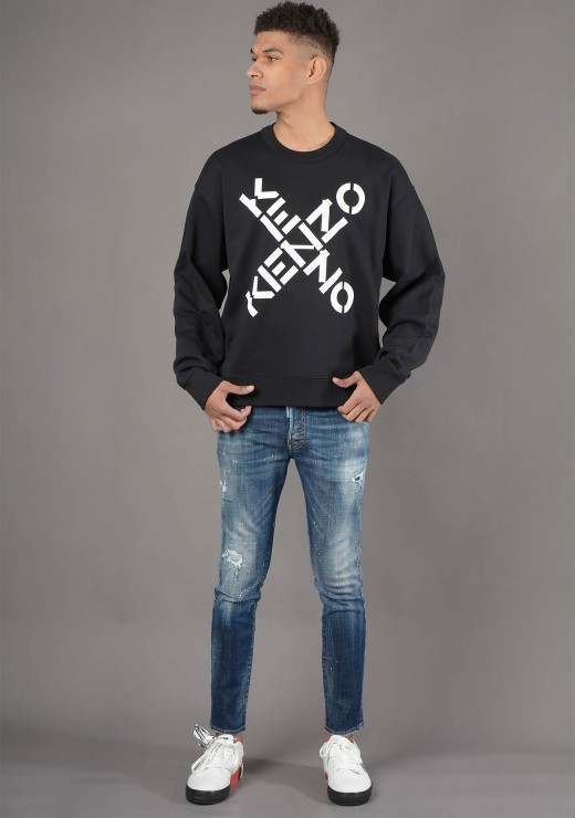 SWEATSHIRTS - 5SW521 Sport Sweatshirt in Black