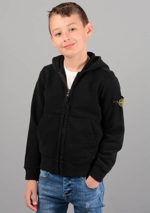 STONE ISLAND JUNIOR - 60640 Hoodie In Black