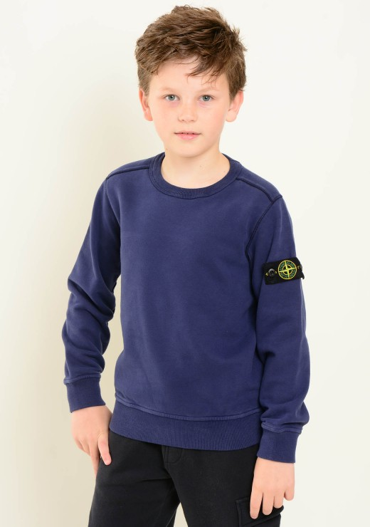 STONE ISLAND JUNIOR - 60940 Sweatshirt in Blue