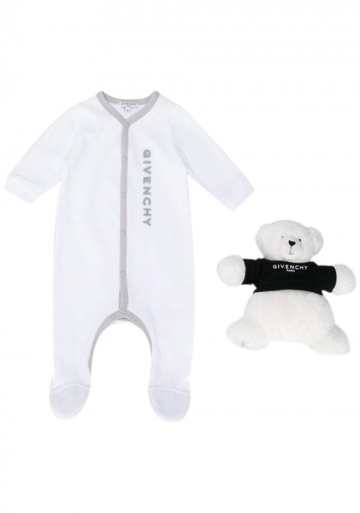 GIVENCHY KIDS  - Babies 2 Piece Set in White