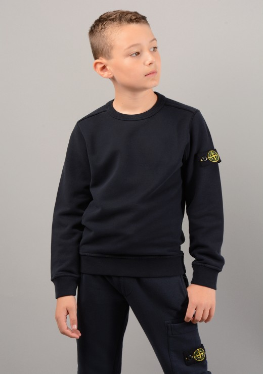 STONE ISLAND JUNIOR - 60940 Sweatshirt in Navy