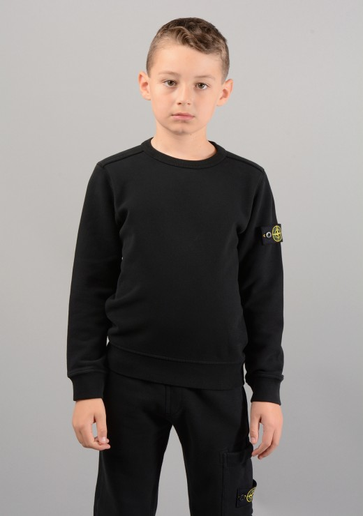 STONE ISLAND JUNIOR - 60940 Sweatshirt in Black
