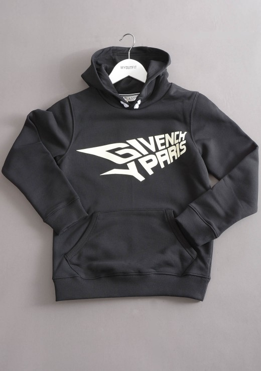 GIVENCHY KIDS  - H25210 Hoodie in Black