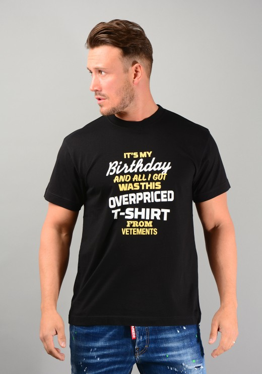 Overpriced Birthday Tee in Black
